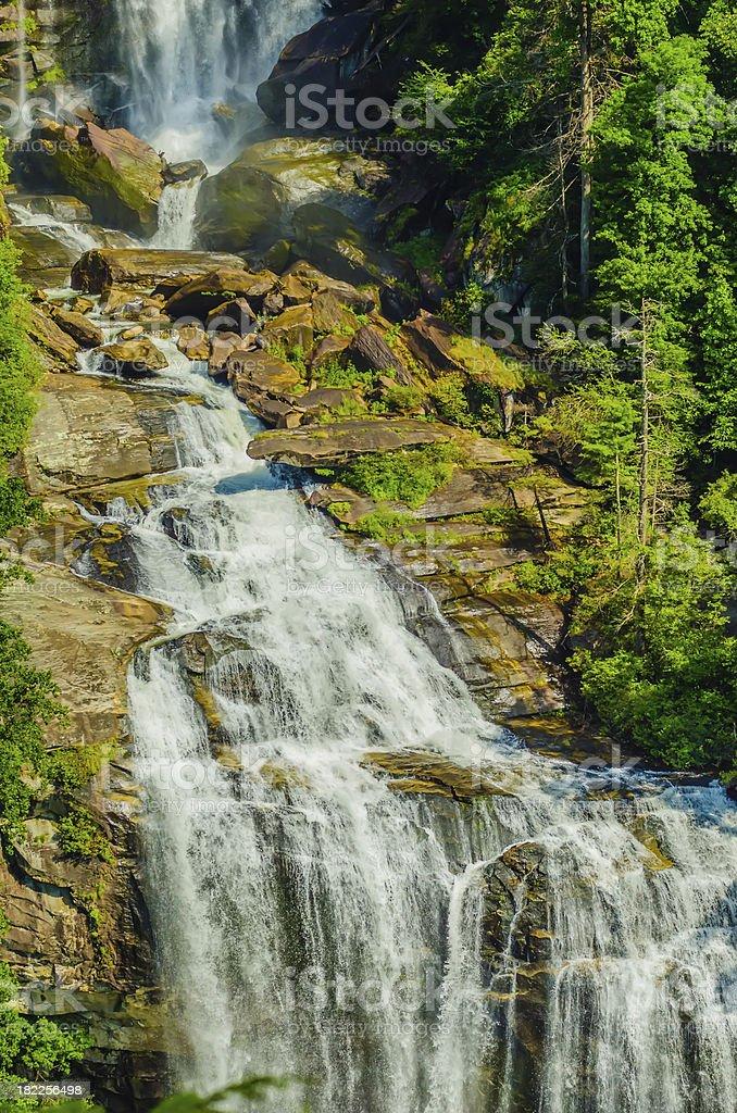 Whitewater Falls in North Carolina royalty-free stock photo