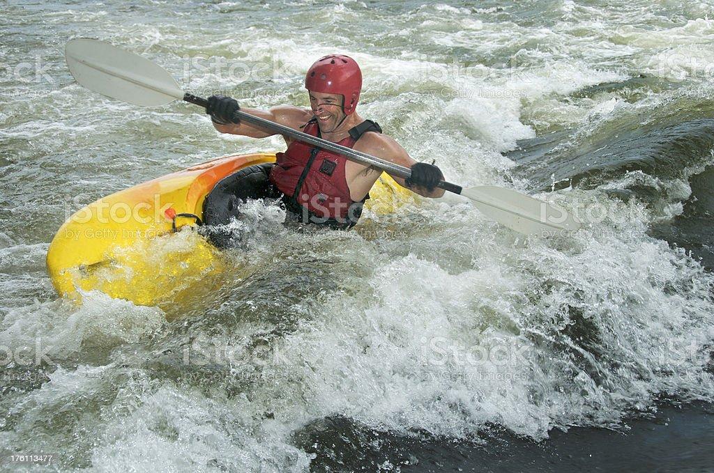 Whitewater Kayak Action royalty-free stock photo