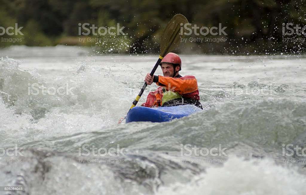 Whitewater Kayak stock photo