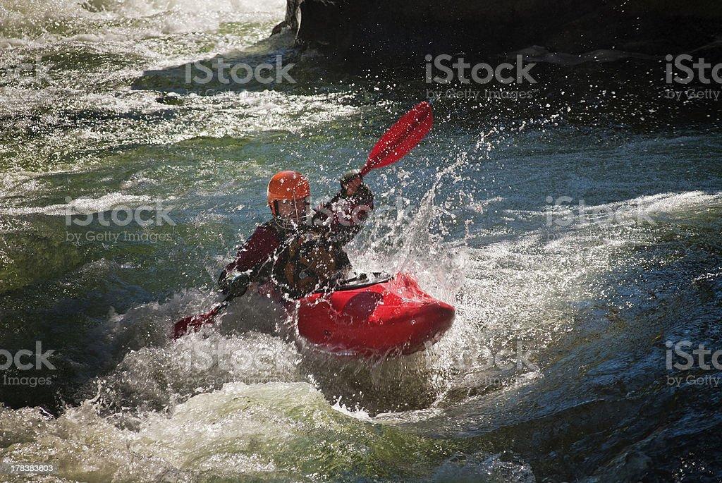 Whitewater Kayaker stock photo