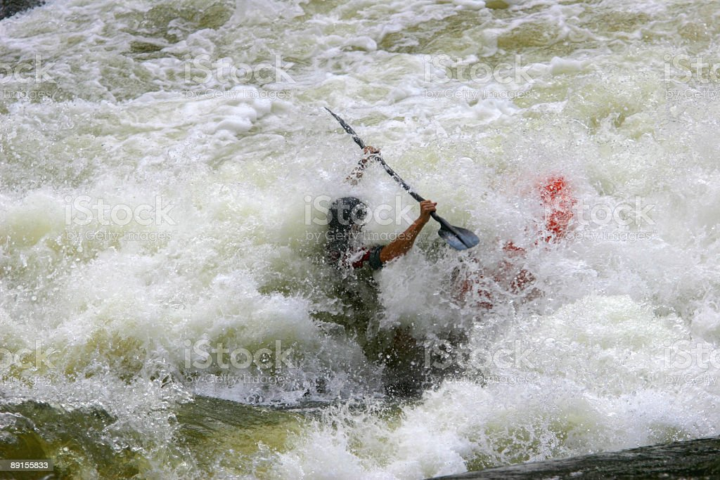 Whitewater Kayaker royalty-free stock photo
