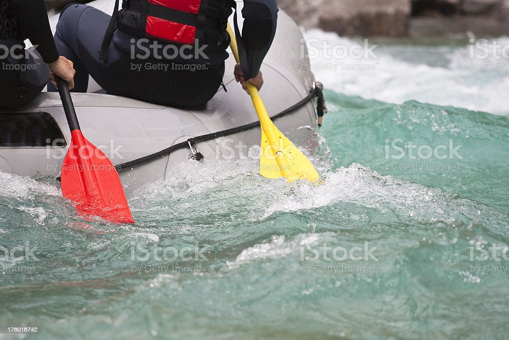 Whitewater rafting detail royalty-free stock photo