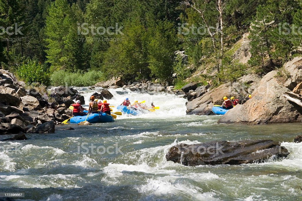 Whitewater Rafting in Clear Creek Canyon stock photo