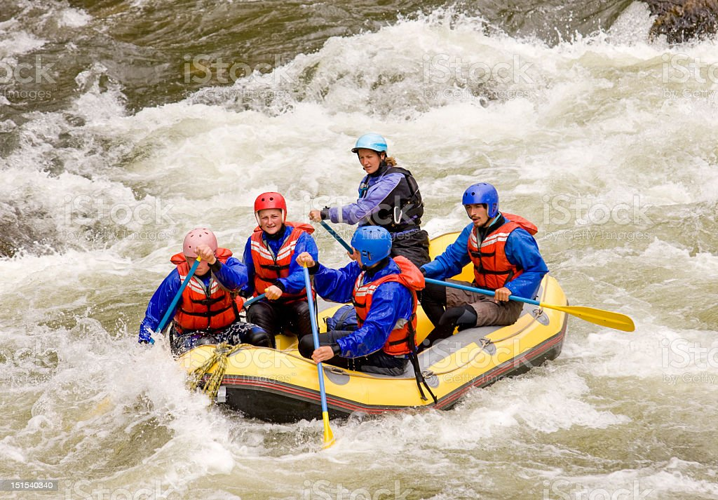 Whitewater Rafting In Western USA stock photo