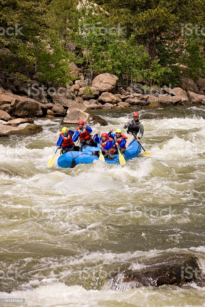 Whitewater Rafting On Arkansas River In Colorado stock photo