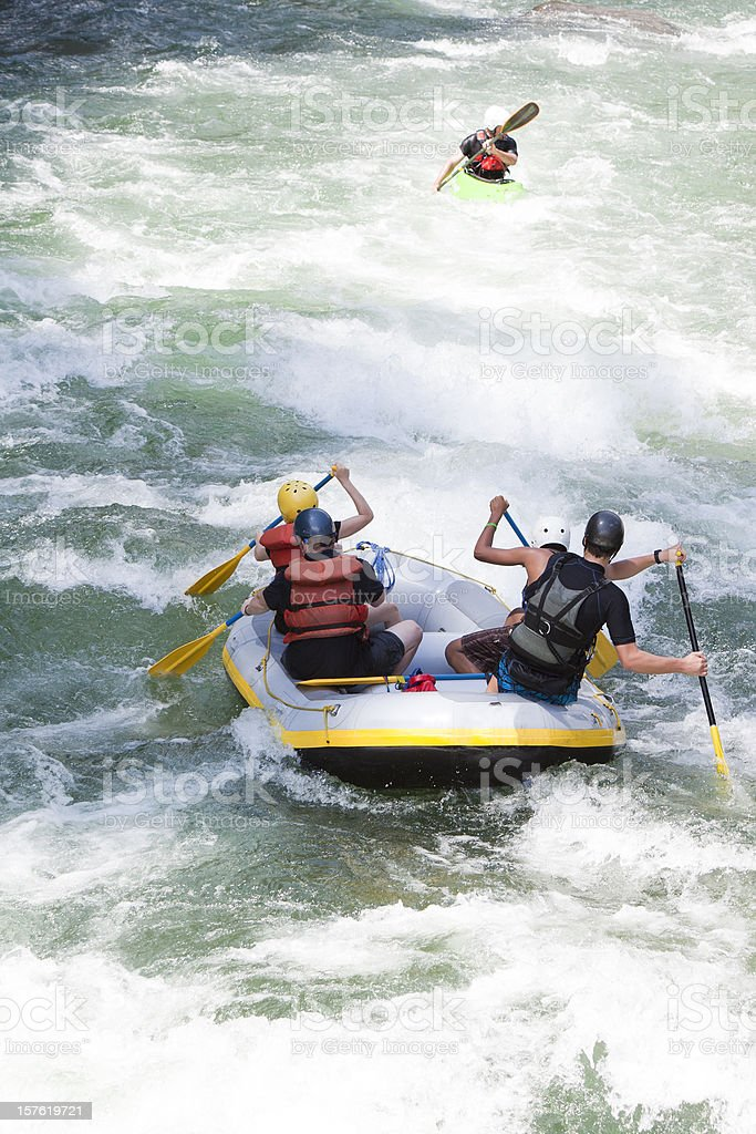 Whitewater Rafting on the Rio cangrejal with omega tours royalty-free stock photo