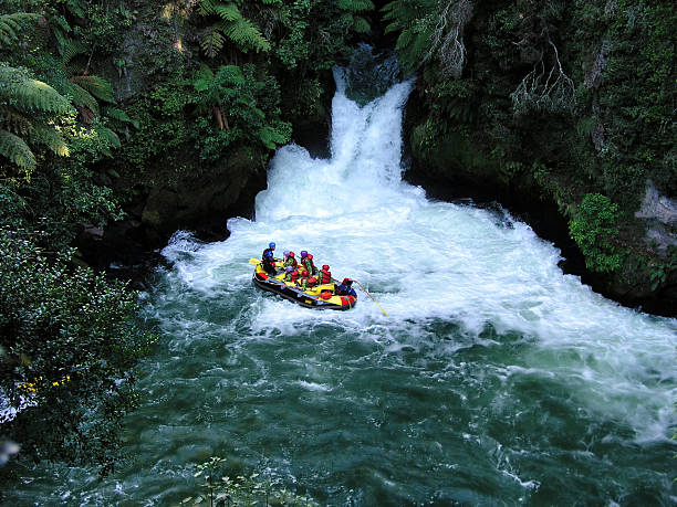 Whitewater rafting Whitewater rafting in Rotorua, New Zealand rotorua stock pictures, royalty-free photos & images