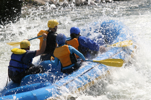 Whitewater Rafting Stock Photo - Download Image Now