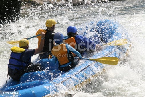 Whitewater Rafting Stock Photo & More Pictures of Adventure