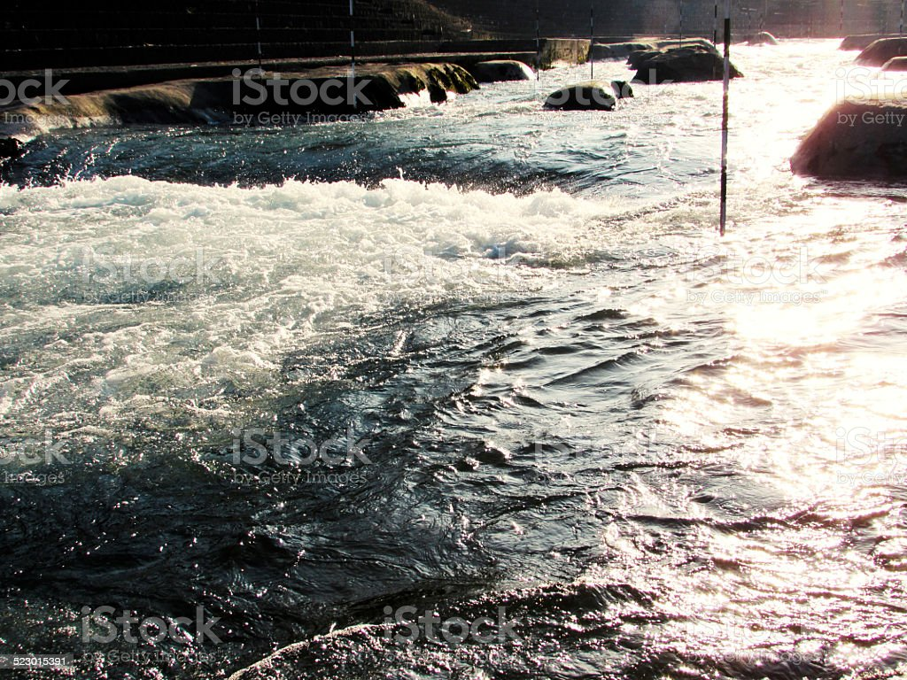 Whitewater river stock photo