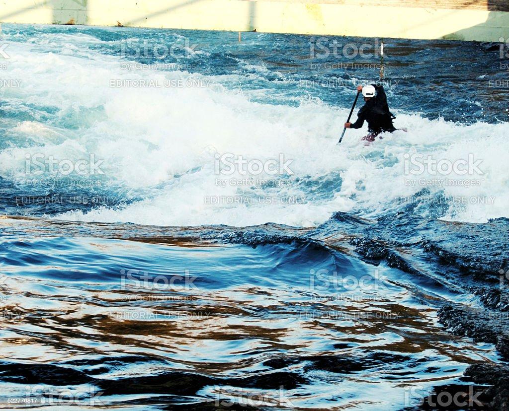 Whitewater Slalom stock photo