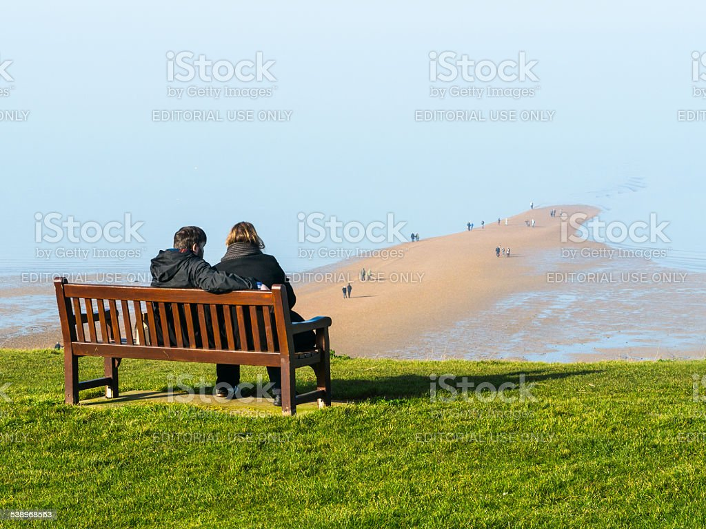 Whitstable beach and street stock photo