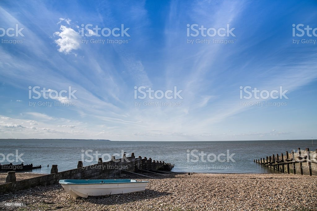Whitstable cloudscape stock photo
