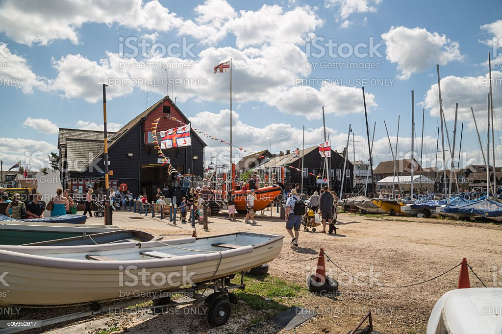 Whitstable Harbour Day stock photo