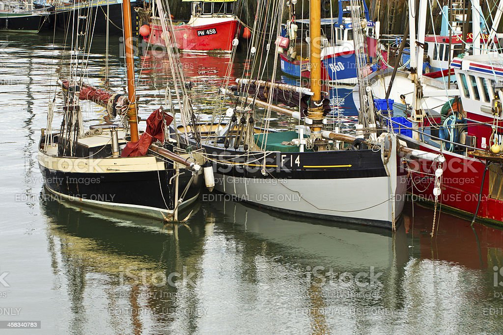 Whitstable harbour royalty-free stock photo