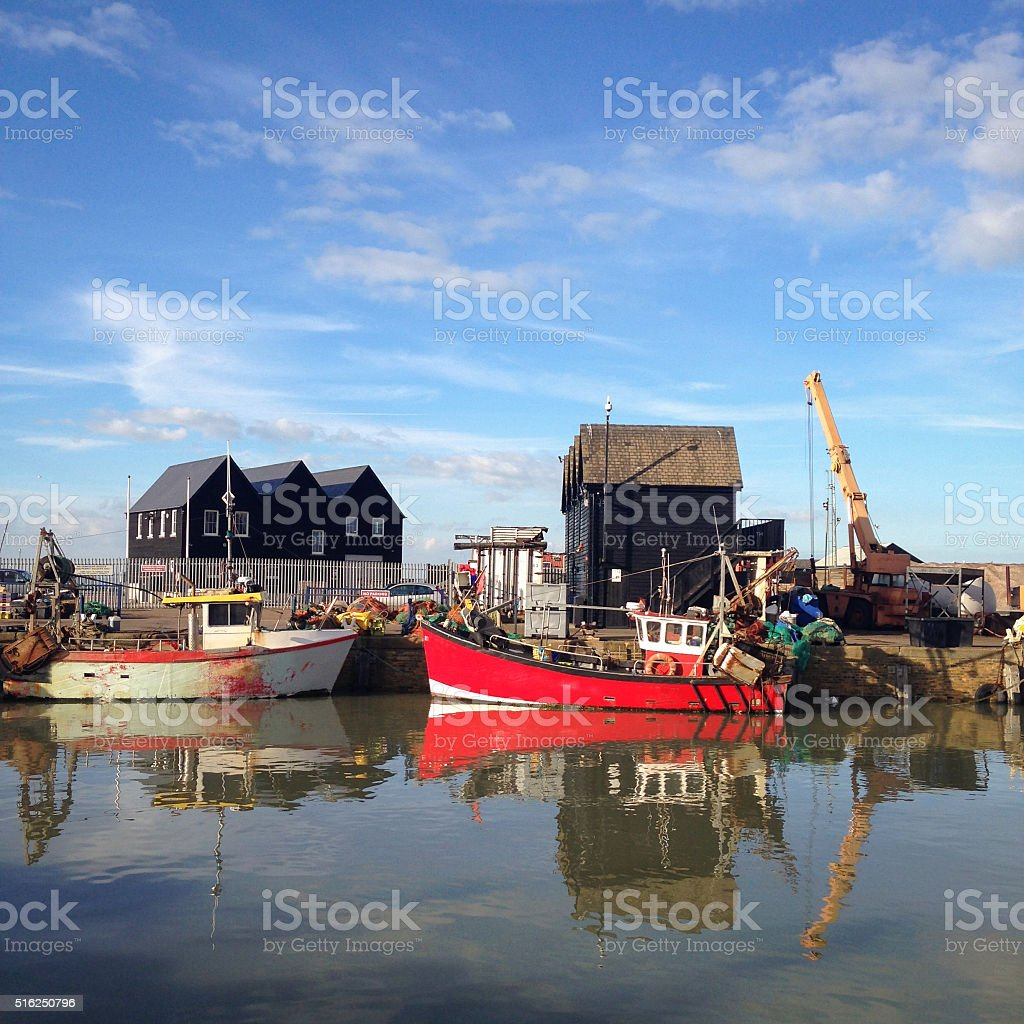 Whitstable Harbour stock photo