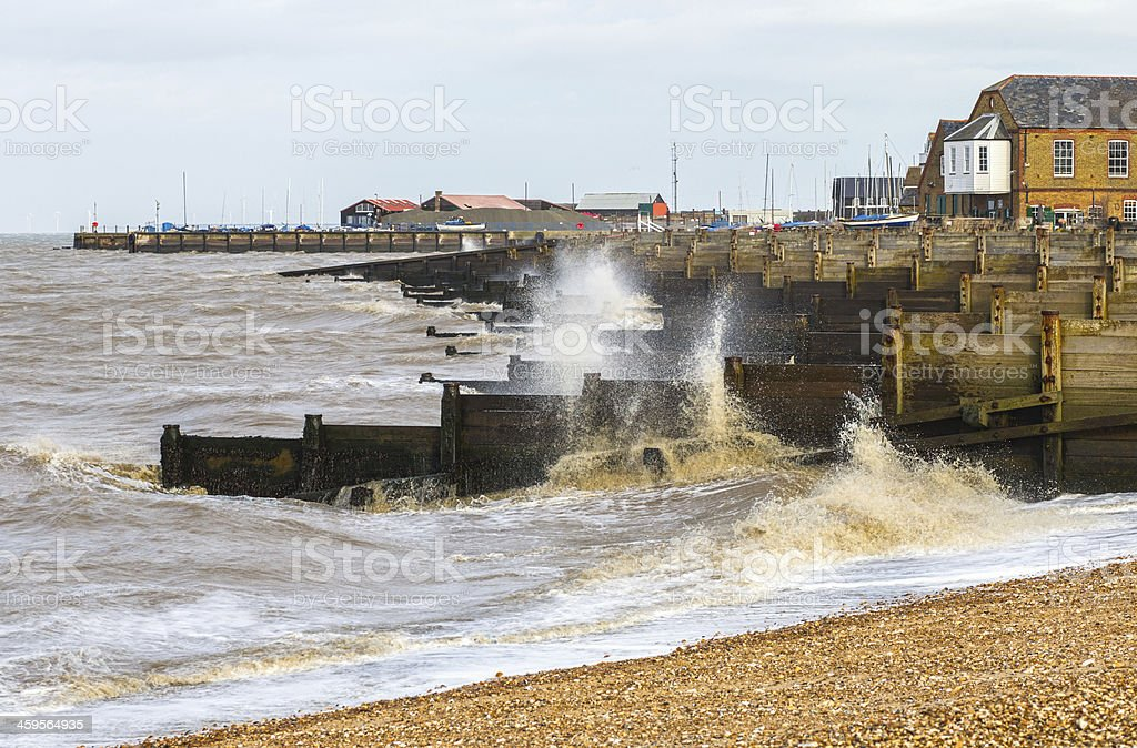 Whitstable on a windy day - Royalty-free Beach Stock Photo