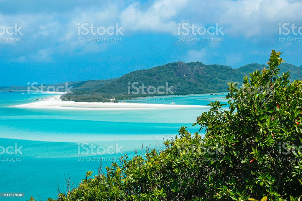 Whitsunday Islands from Hill Inlet stock photo