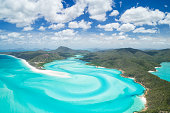 Unique arial panorama of the famous Whitsunday Islands