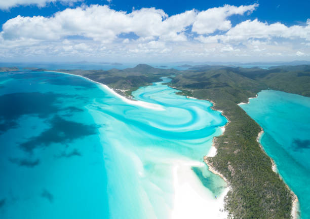 Whitsunday Islands, Great Barrier Reef, Queensland, Australia stock photo