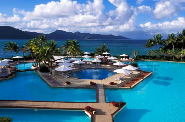 Whitsunday Islands Hotel Resort stock photo
