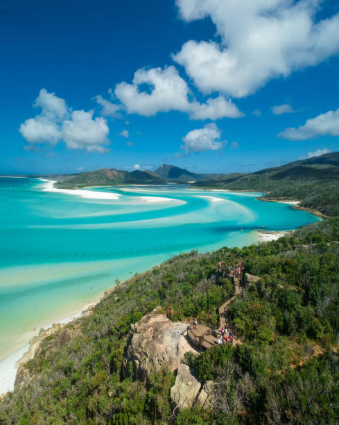 whitsunday swirls - great barrier reef stock pictures, royalty-free photos & images