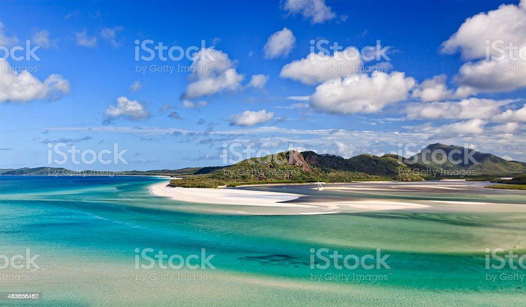 QE Whitsundays Bay Hill stock photo