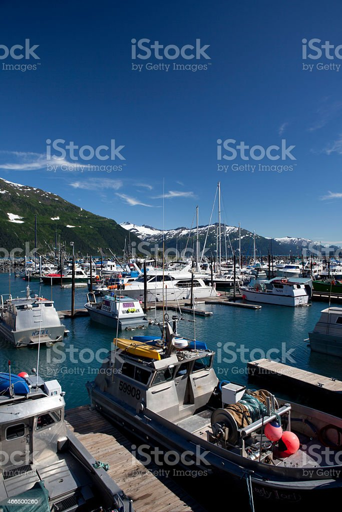Whittier Harbor, Alaska stock photo