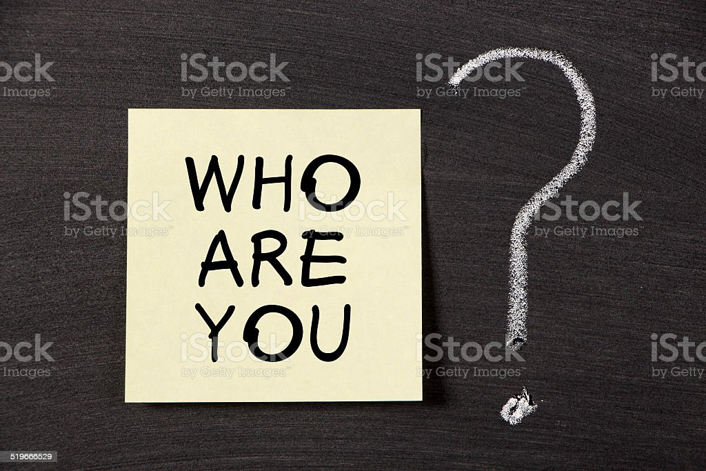 Who Are You ? stock photo