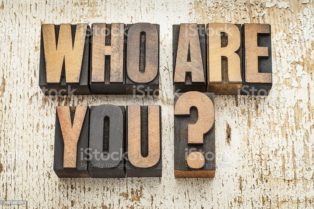 who are you question stock photo