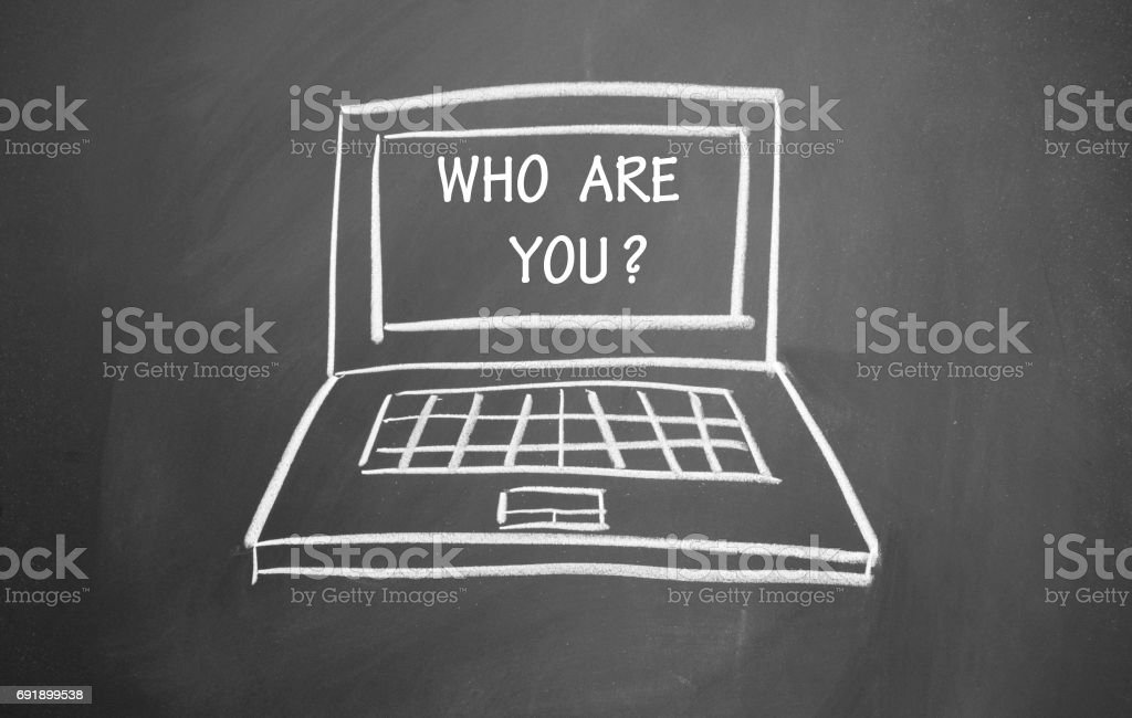 who are you title stock photo
