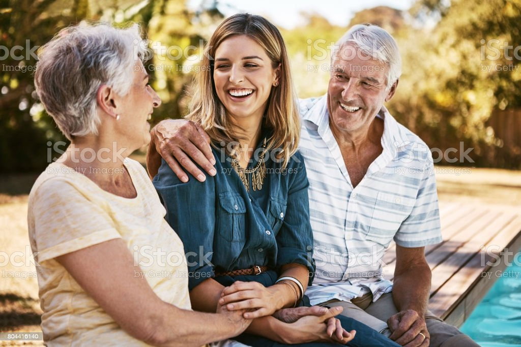 Who better to spend summer with than family stock photo