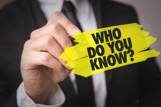 Who Do You Know? stock photo