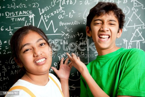 istock Who invented Maths? Indian Students with Mathematics Problems 182669782