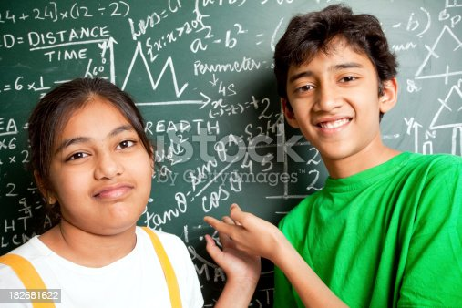 istock Who invented Maths? Indian Students with Mathematics Problems 182681622