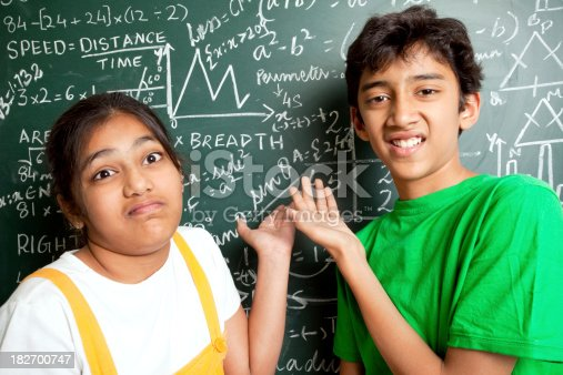 istock Who invented Maths? Indian Students with Mathematics Problems 182700747