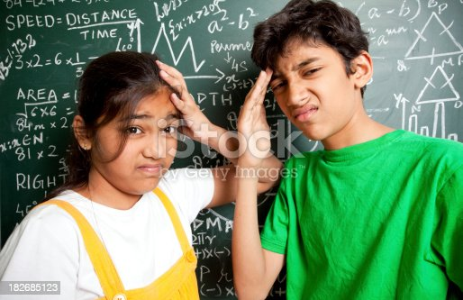 istock Who invented Maths? Students with Mathematics Problems 182685123