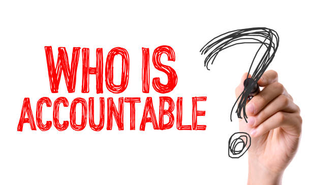 Who is Accountable? stock photo