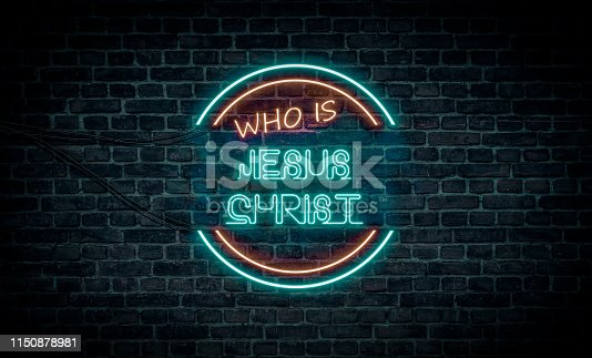 A neon sign showing the phrase: Who is Jesus Christ