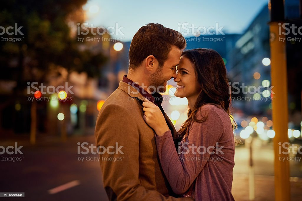 Who knew love could feel so amazing stock photo