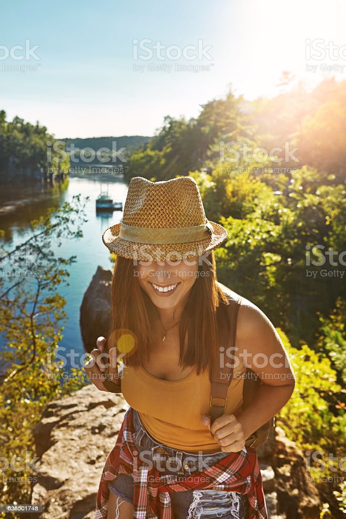 Who knows where the trail may lead you stock photo