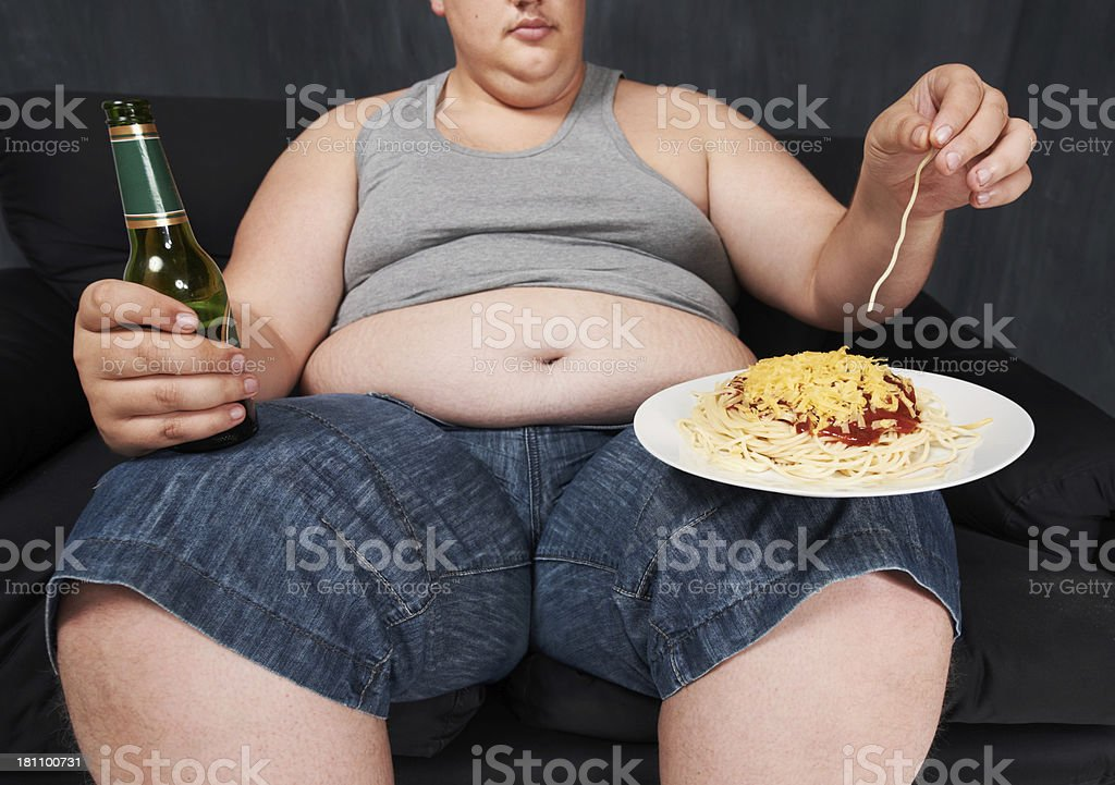 Who needs a fork? stock photo