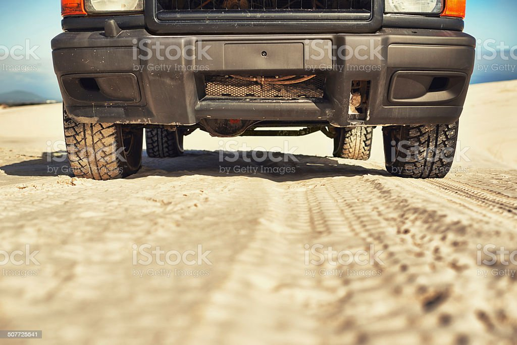 Who needs a road? stock photo