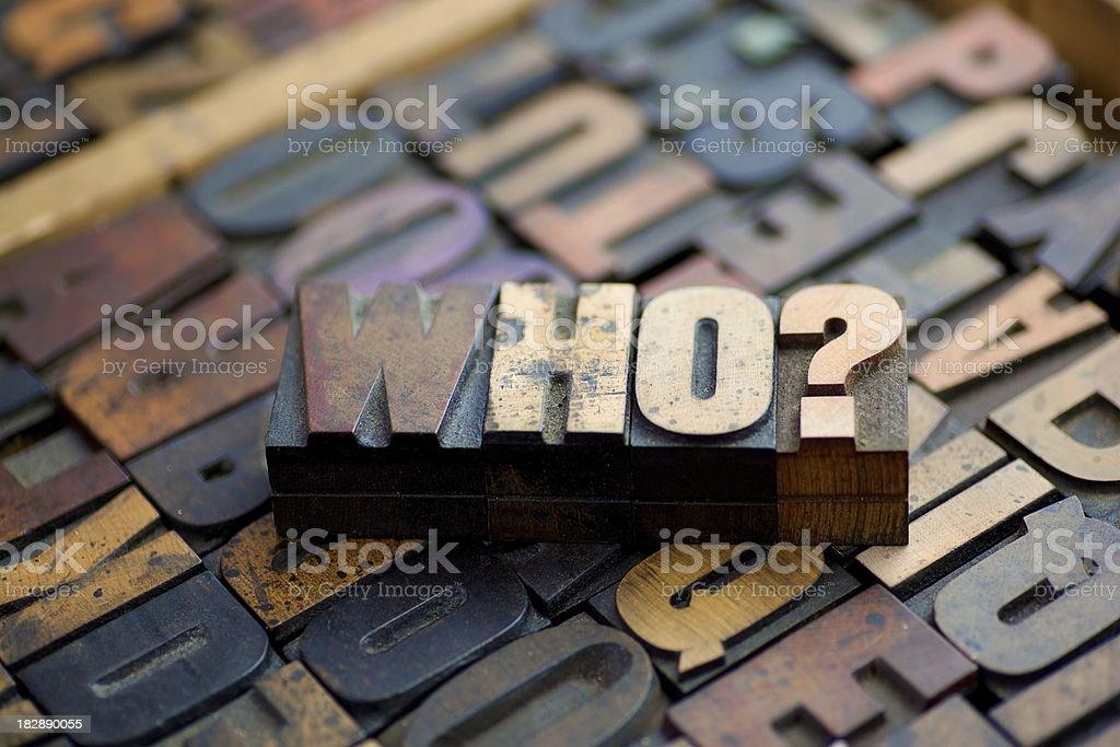 Who?... stock photo
