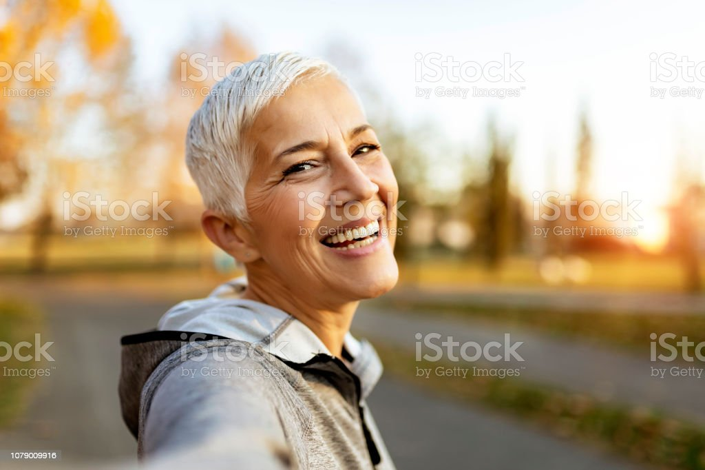 Who said selfies are just for the youth? stock photo