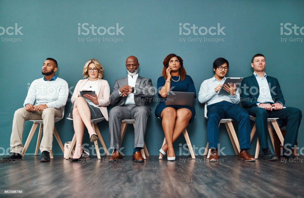 Who said waiting has to be unproductive? stock photo