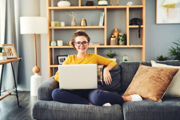 Who said you can't be productive in your comfort zone? stock photo