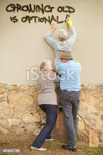 istock Who says the elderly can't be edgy? 482632195