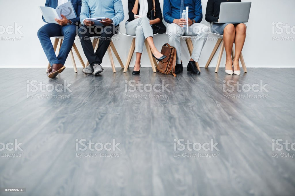 Who will be hired? stock photo