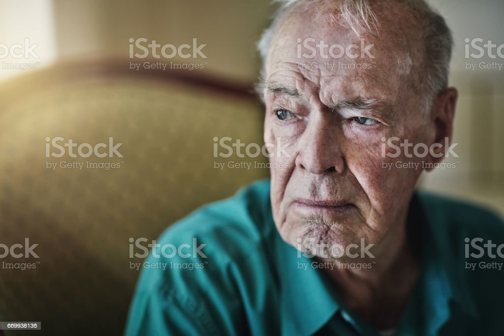 Who will take care of you when you're old? stock photo